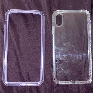 iPhone XS MAX lifeproof case purple